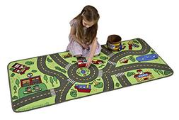Learning Carpets Playful Road Play Carpet 27 x 60in Rugs, Ne
