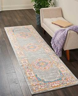 """Nourison PSN03 Passion Traditional Area Rug, 2'2"""" x 7'6"""", Gr"""