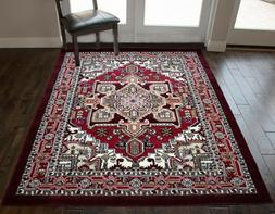 Red Color 5'x7' Feet Traditional Oriental Medallion Area Rug