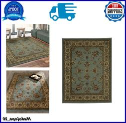 Royal Traditional Oriental Blue Sage Floral Style Area Rug I