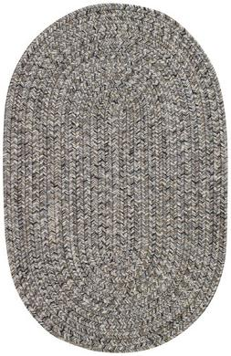 "Capel Rugs Sea Pottery Oval Braided Area Rug, 24"" x 36"", Smo"