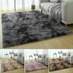 Shaggy Fluffy Area Rug Anti-Skid Living Room Carpet Soft Bed