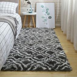 Soft Fluffy Area Rug Anti-Skid Shaggy Living Room Home Bedro