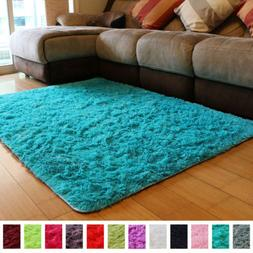 PAGISOFE Soft Fluffy Blue Area Rugs for Bedroom Kids Room Li
