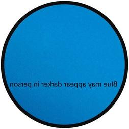 Learning Carpets Solid Blue Round School Learning Carpet Rug