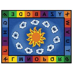Carpets for Kids Sunny Day Learn/Play Rectangle Rug - 70 Len