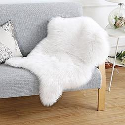 Ojia Super Soft Faux Fur Sheepskin Area Rug Chair Cover Seat