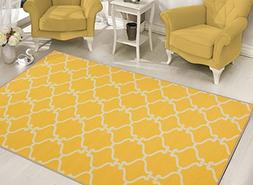 Sweethome Stores Clifton Collection Yellow Moroccan Trellis