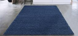 "Sweet Home Stores COZY2866-5X7 Area Rug, 5'3"" x 7', Navy Blu"