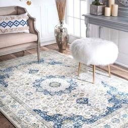 nuLOOM Traditional Oriental Vintage Style Area Rug in Blue a