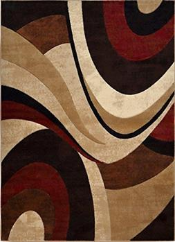 """Home Dynamix Tribeca Slade Area Rug 7'10""""x10'6"""", Abstract Br"""