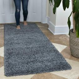 Ottomanson Ultimate Shaggy Contemporary Solid Runner Rug, Gr
